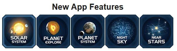 Le nuove funzioni della App di Solar System Scope