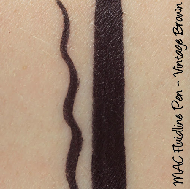 MAC Fluidline Pen - Vintage Brown Swatches & Review
