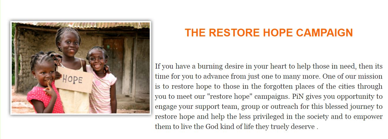 The Restore Hope Campaign