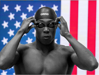 U.S. swimmer Reece Whitley at the 2017 FINA World Junior Championships