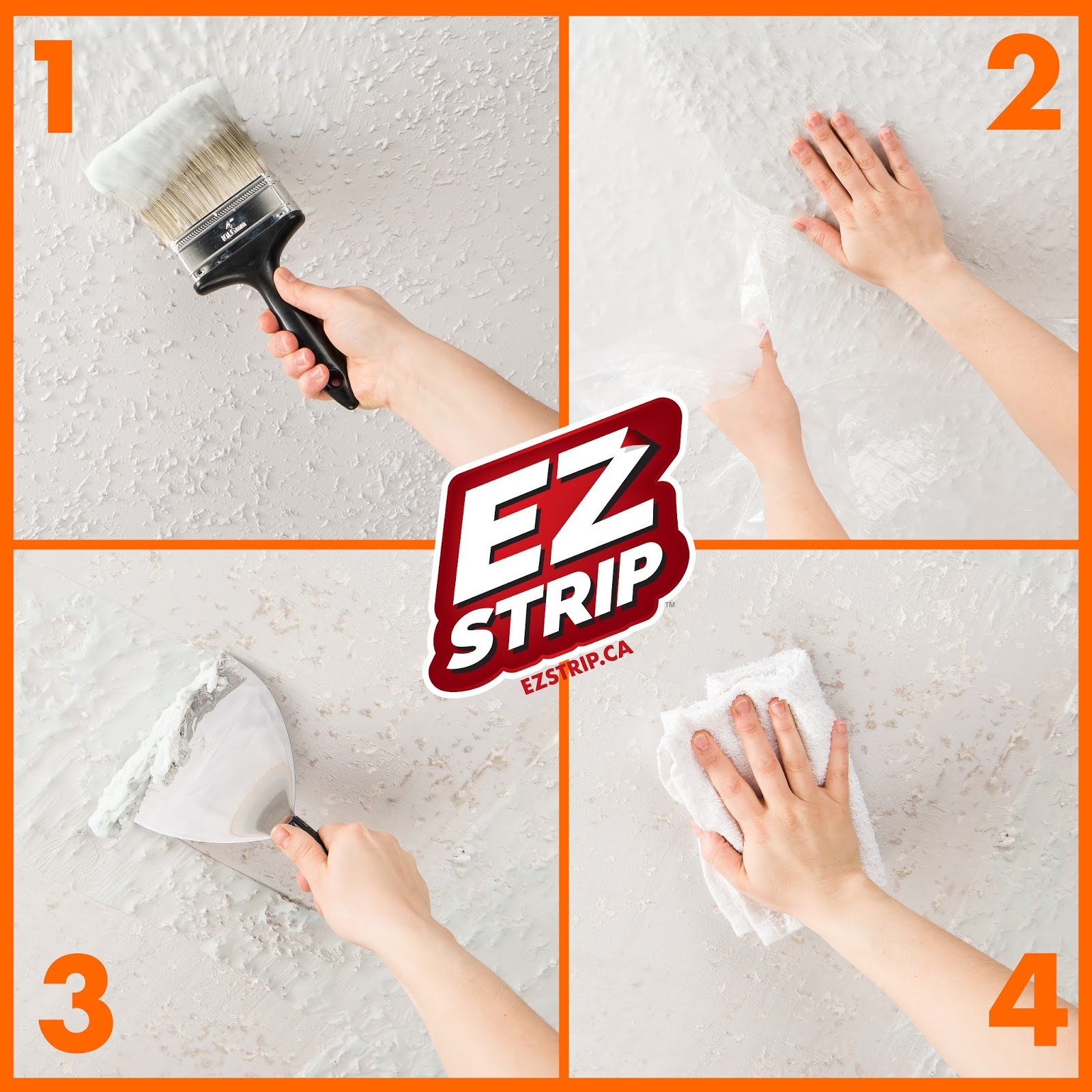 Ez Strip Blog Diy Home Update Painted Popcorn Ceiling Removal
