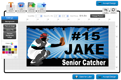 Baseball banner template in the online designer