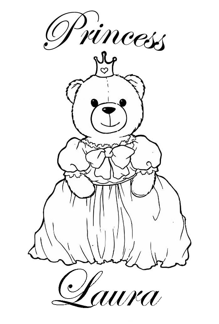 PRINCESS COLORING PAGES: COLORING PICTURES WITH NAMES ...