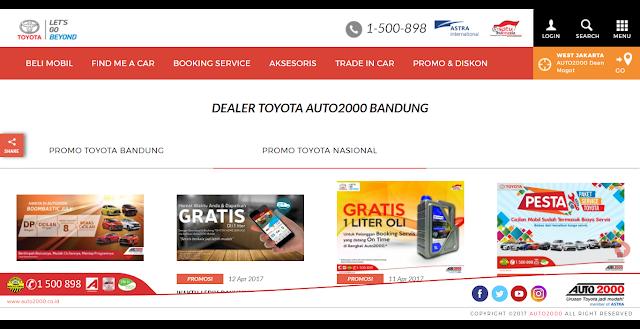 Cara Beli Mobil di Dealer Toyota Auto2000 Bandung