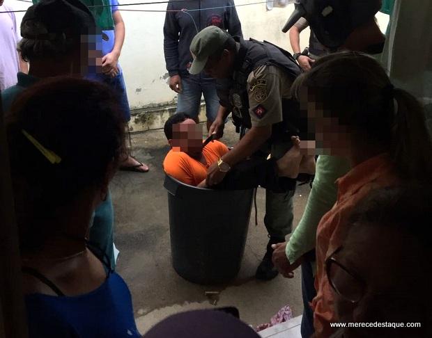 Homem é encontrado amarrado dentro de balde com água em Santa Cruz do Capibaribe