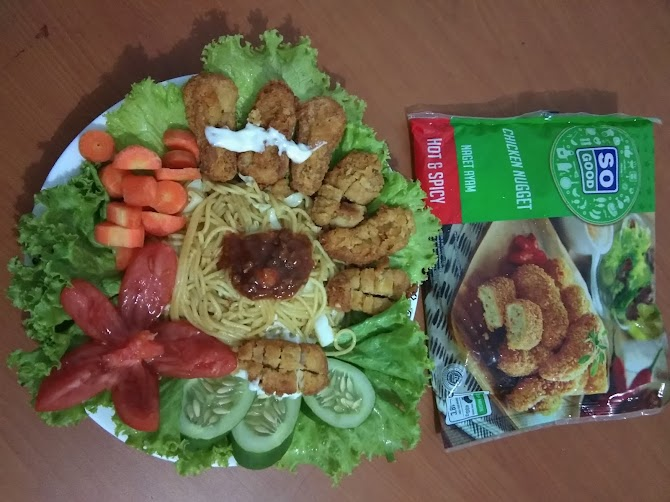 Spaghetti Chicken Nugget Hot and Spicy