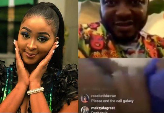 Shocking: Actress, Etinosa goes completely naked on MC Galaxy's Instagram live video (18+)
