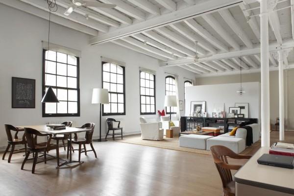 White Industrial Style Loft In Barcelona Home Interior Design