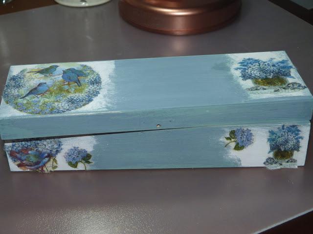 caja de madera-decorada-decapado-papel de arroz