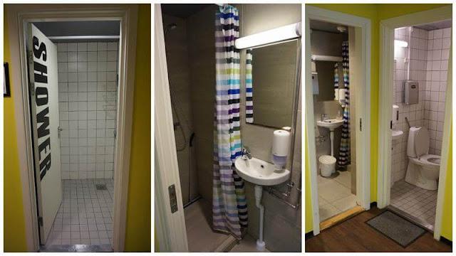 Copenhagen downtown hostel duchas shower