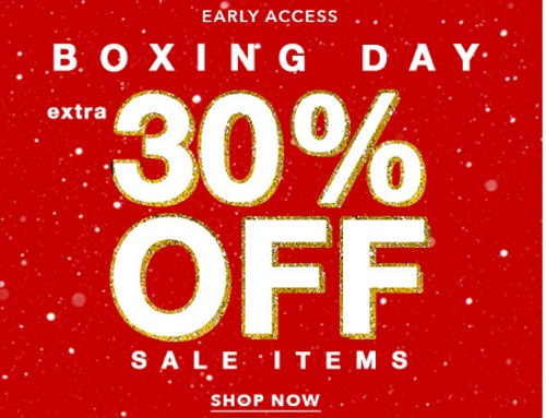 Forever 21 Boxing Day Early Access Extra 30% Off + Free Shipping