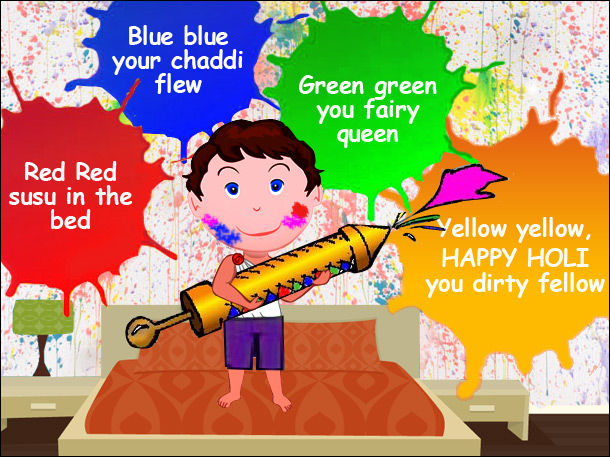 Funny Holi Wallpaper for Facebook