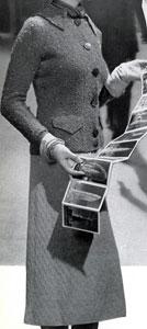 The Vintage Pattern Files: Free 1930's Knitting Pattern - Golden Arrow Homespun Nub Yarn Jacket and Featherdown Skirt