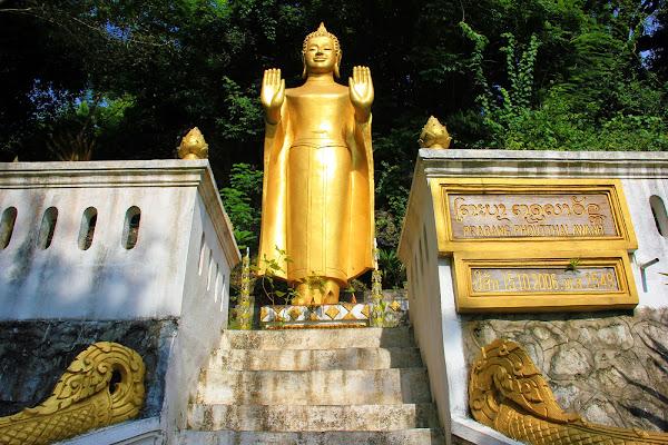 Bouddha Wat Tham Phousi - Phou Si Hill