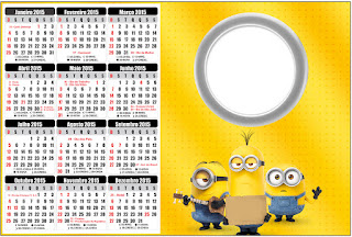 Calendario 2015 para imprimir gratis de Película de los Minions