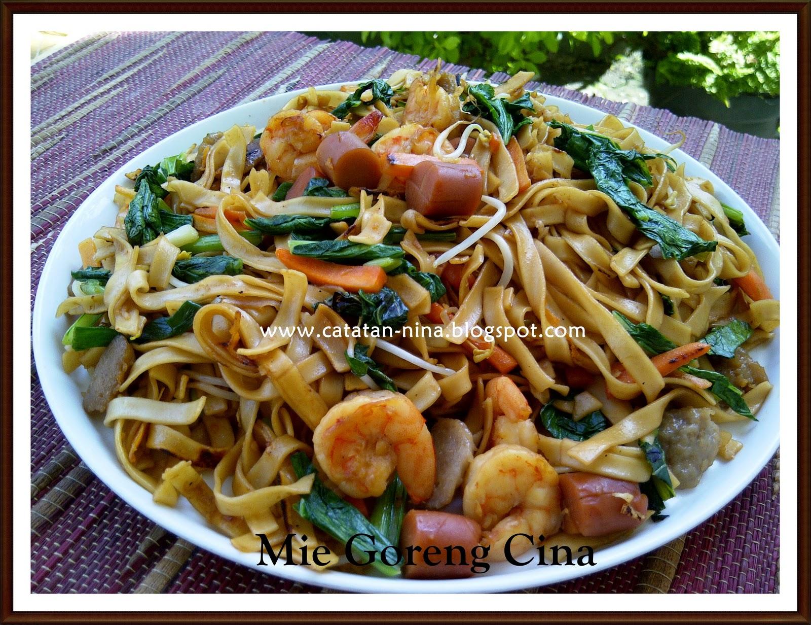 Mie goreng cina catatan nina aneka resep masakan rumah for Aja asian cuisine menu