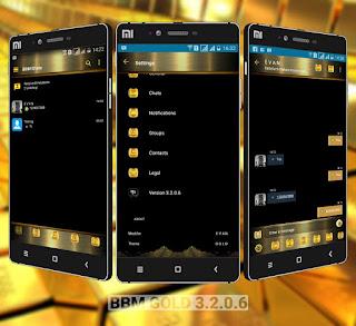 BBM Mod Black Gold v3.2.0.6 Unclone Apk Terbaru