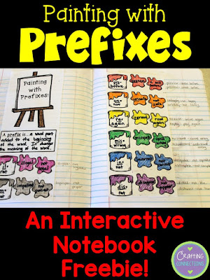 Prefixes FREEBIE! Students write the meaning of various prefixes and provide example words for each prefix. This interactive notebook freebie can be used with any set of prefixes!