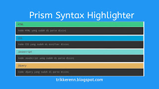 Prism Syntax Highlighter Poster