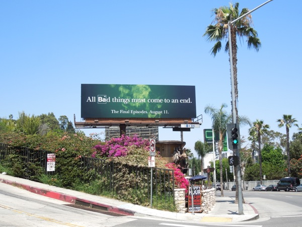 Breaking Bad final episodes billboard