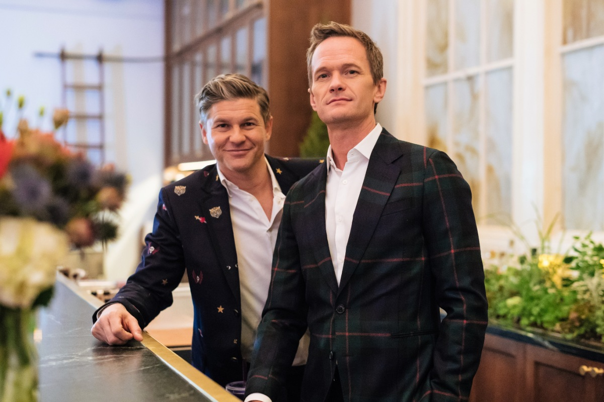 Neil Patrick Harris And David Burtka Do Date Night Different With A Snack Food Feast Delivered Via Gopuff Delivery Service For A Cozy Night In