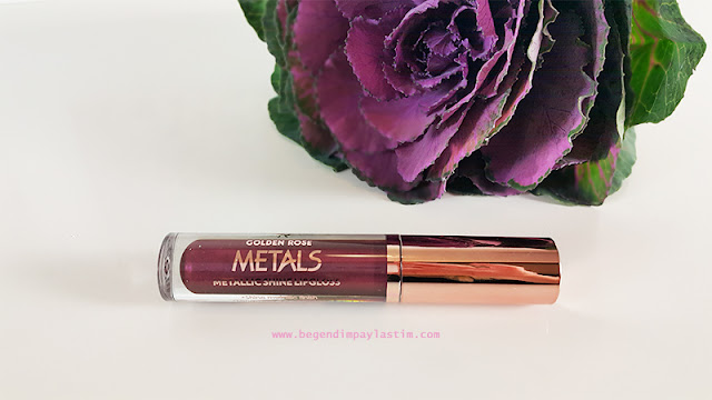 Golden Rose Metals Metallic Shine Lipgloss-07 Wine Red
