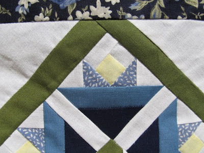 Blue and White Flowered Quilt