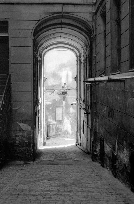 Prague, ruelle d'Or, Zlata ulicka, © L. Gigout, 1990