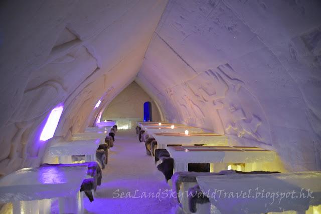 羅凡尼米, Rovaniemi, Arctic Snow Hotel, 冰餐廳, dinner, ice restaurant