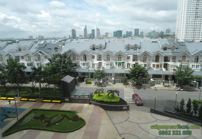 view khu biệt thự saigon pearl tại tầng 3 tòa nhà topaz 2