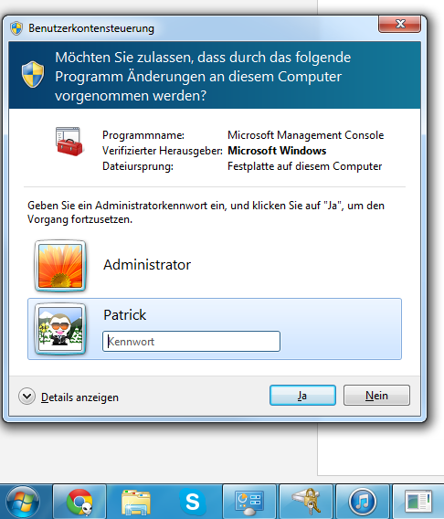 Patrick Faust Sicheren Desktop In Vistawin7 Ersetzen