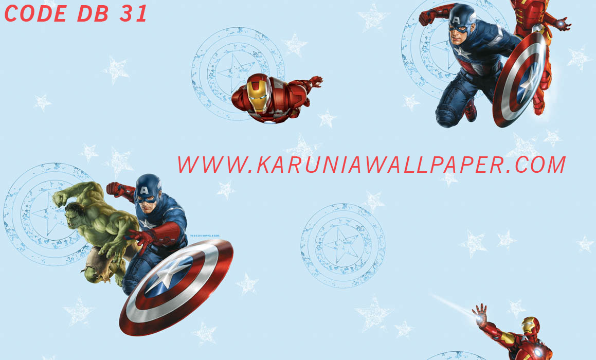 jual wallpaper dinding superhero karuniawallpaper