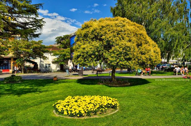 Ohrid city park, Macedonia