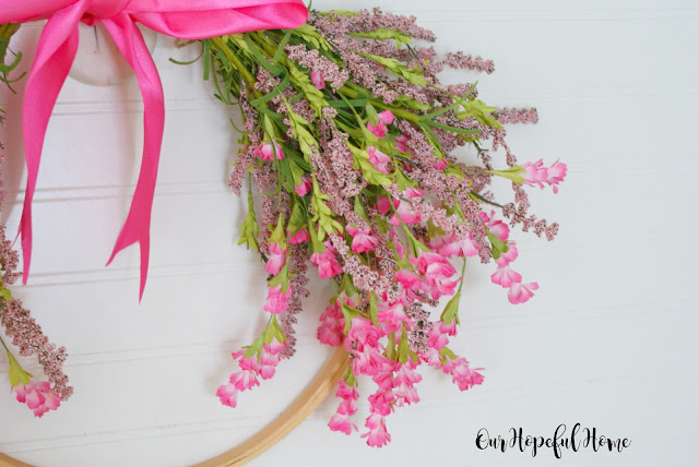 hoop wreath spring floral DIY tutorial