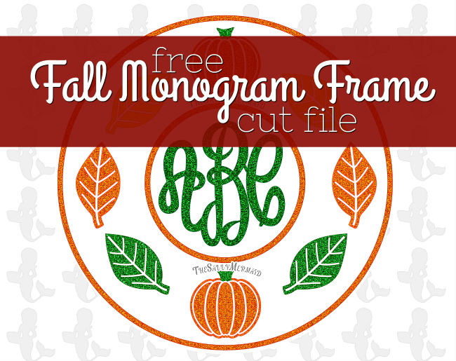 free monogram frame, free silhouette designs, free silhouette cut file, free silhouette cameo design