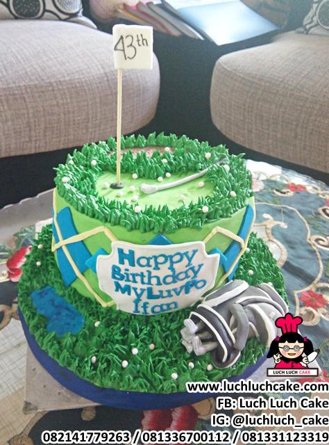 Luch Luch Cake Fondant Birthday Cake Tema Golf