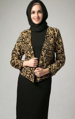 Blazer batik modis untuk dikombiansikan dengan gamis