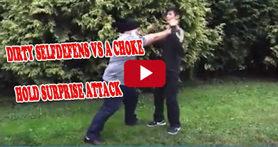 Dirty Selfdefend VS a choke hold surprise attack tricks-self defense classes