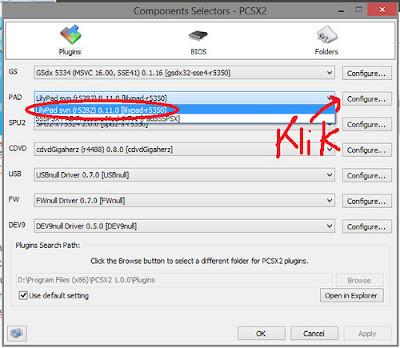 mengatur gamepad PCSX2 Full Speed Agar Tidak Lag