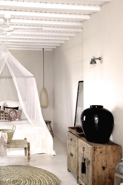 PUNTXET Hotel San Giorgio en Mykonos ¡Espectacular! #deco #decoracion #hogar #home #dormitorio #bedroom #estilobohemio #bohemianstyle #travel #hotel