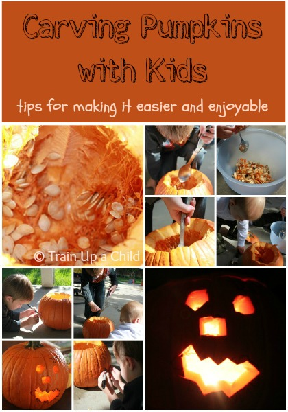 Child-Led Pumpkin Carving (Photo from Train Up a Child)
