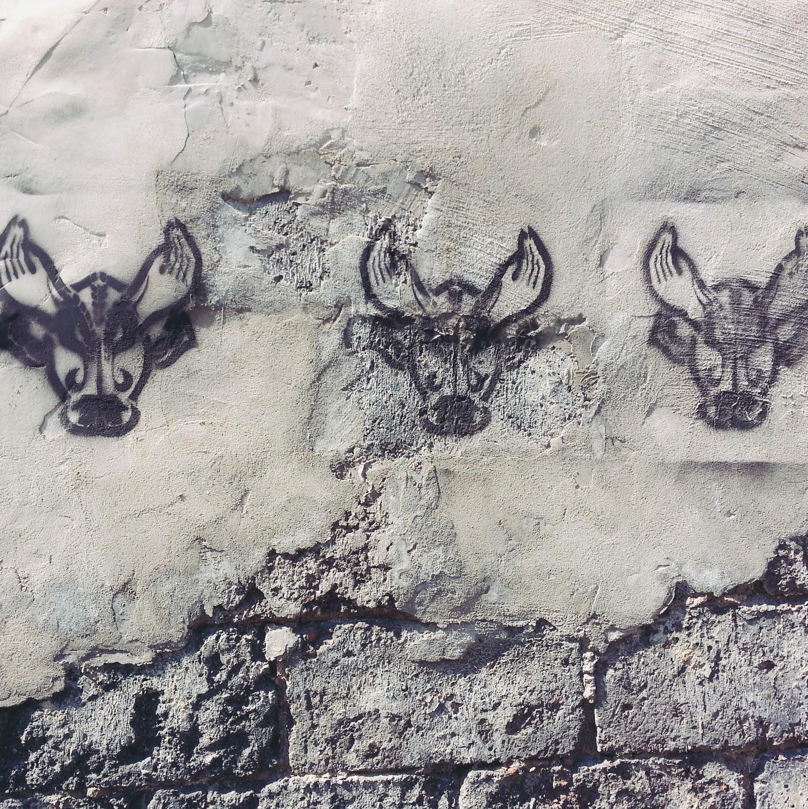 mural byk streetart bull