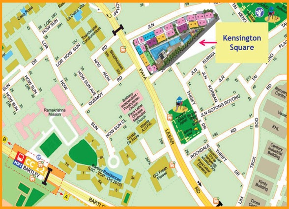 Kensington Square Location Map