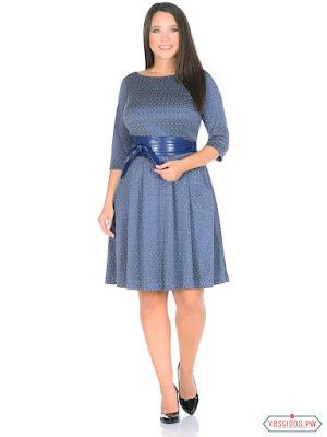vestidos color azul de gorditas