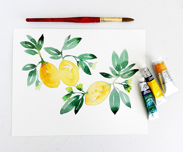 How to Paint Lemons in Watercolor
