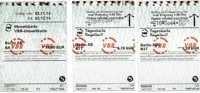 tickets de transporte em Berlim