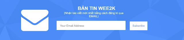 Tạo khung đăng kí qua Email (Subscribe box) tuyệt đẹp cho Blogspot