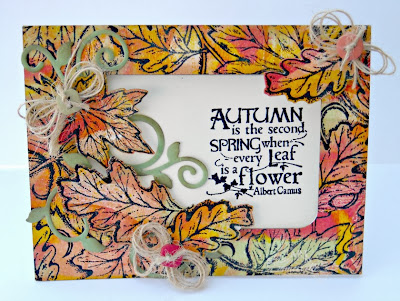 Stamps - Our Daily Bread Designs Leaves BG, Autumn Blessings, ODBD Custom Fall Leaves and Acorn Die, ODBD Custom Fancy Foliage Die
