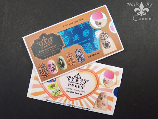 Pueen Cosmetics Halloween Party & Double Fun Plate Review - Nails by Cassis