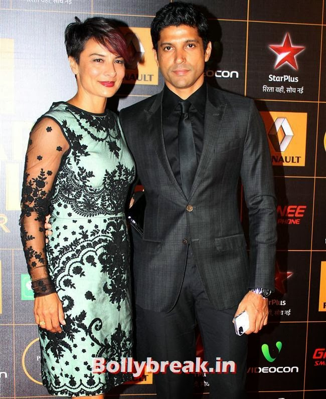 Adhuna Akhtar and Farhan Akhtar, Star Guild Awards 2014 Pics